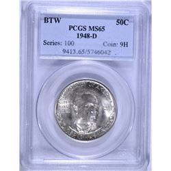 1948-D BOOKER T. WASHINGTON COMMEMORATIVE HALF DOLLAR, PCGS MS-65