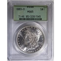 1883-O MORGAN SILVER DOLLAR - PCGS MS65 OLD GREEN HOLDER