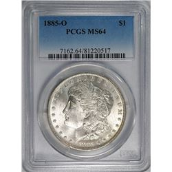 1885-O MORGAN SILVER DOLLAR PCGS MS-64