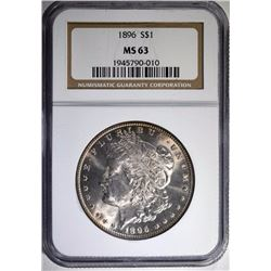 1896 MORGAN SILVER DOLLAR NGC MS 63
