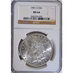 1901-O MORGAN SILVER DOLLAR, NGC MS-64