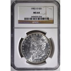 1902-O MORGAN SILVER DOLLAR, NGC MS-64
