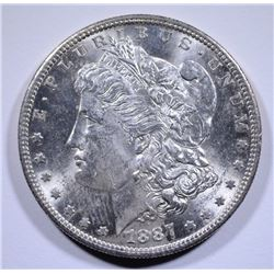 1887-S MORGAN SILVER DOLLAR CH BU  BETTER DATE