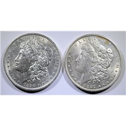 1890 & 97 MORGAN DOLLARS BU