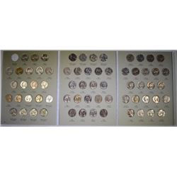 SUPERB GEM BU SET - JEFFERSON NICKELS, 1938-1961, BEAUTIFUL SET