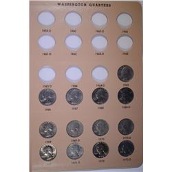 WASHINGTON QUARTER SET, 1965-1998, 63 COINS in DANSCO ALBUM