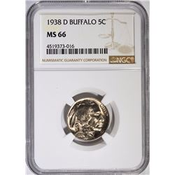 1938-D BUFFALO NICKEL - NGC MS 66