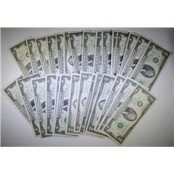 31pc NICE GREEN SEAL $2 BILLS ($62 FACE VALUE)