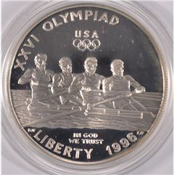 1996 PROOF SILVER COMMEM - OLYMPIC GAMES - ROWING