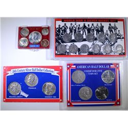4 COIN SETS WITH SILVER: SEE DESCRIPTION