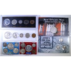COIN SETS WITH SILVER: SEE DESCRIPTION