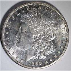 1889-S MORGAN SILVER DOLLAR BU
