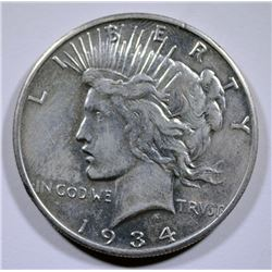 1934-S PEACE SILVER DOLLAR AU  KEY DATE