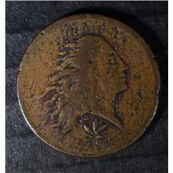 1793 WREATH CENT F/VF HAS SOME CORROSION & CLEANING