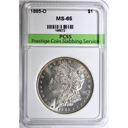 1885-O MORGAN SILVER DOLLAR PCSS GEM BU