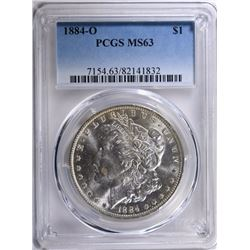 1884-O MORGAN SILVER DOLLAR PCGS MS-63