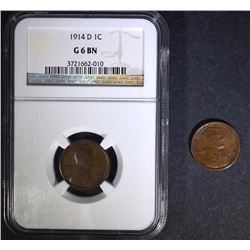 1914-D LINCOLN CENT NGC G BN & 1914-S LINCOLN CENT FINE