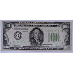 1934 $100.00 FEDERAL RESERVE NOTE, VF  NICE!