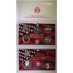 1999 U.S. SILVER PROOF SET IN ORIGINAL  PACKAGING