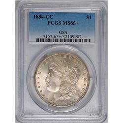 1884-CC  GSA MORGAN SILVER DOLLAR, PCGS MS-65+