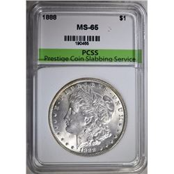 1888 MORGAN SILVER DOLLAR, PCSS GEM BU