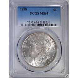 1898 MORGAN SILVER DOLLAR, PCGS MS-65