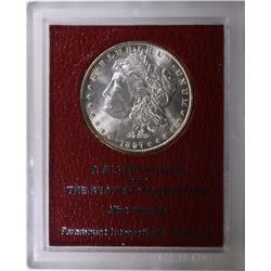 1897 REDFIELD COLLECTION MORGAN SILVER DOLLAR MS 65  BLAST WHITE