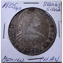 1805 MO SILVER 8 REALES MEXICO CH/AU