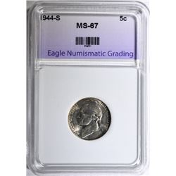 1944-S JEFFERSON NICKEL ENG SUPERB GEM