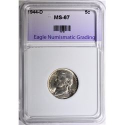 1944-D JEFFERSON NICKEL ENG SUPERB GEM