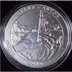 2010-P  AMERICA THE BEAUTIFUL GRAND CANYON 5 Oz SILVER QUARTER IN ORIG BOX & COA