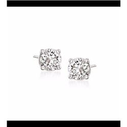 .15 ct. t.w. Diamond Stud Earrings in 14kt White Gold