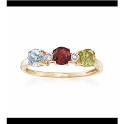 1.10 ct. t.w. Multi-Stone Ring in 14kt Yellow Gold