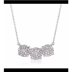 .51 ct. t.w. Diamond Illusion Necklace in 14kt White Gold