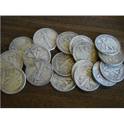 Lot of (20) Walking Liberty Halves