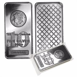 10 oz. Morgan Design Silver Bar