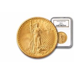 1908 MS 63 NGC or PCGS $ 20 Gold Saint Gauden's