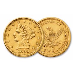 1890 $ 2.5 Gold Liberty Quarter Eagle