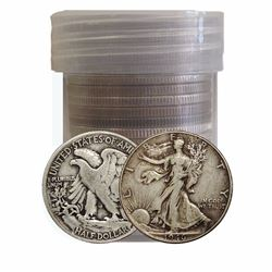Roll of (20) Walking Liberty Half Dollars