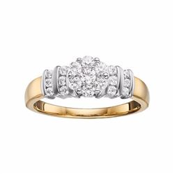 10k Gold 1/2 Carat T.W. Diamond Cluster Engagement Ring