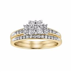 Cherish Always Diamond Engagement Ring Set in 10k Gold (1/2 Carat T.W.)