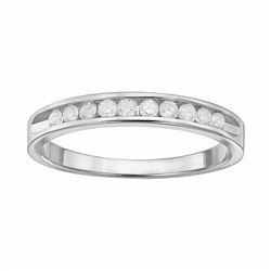 1/4 Carat T.W. Diamond 10k White Gold Ring