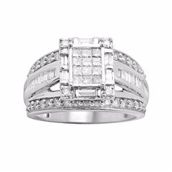 Diamond Engagement Ring in 10k White Gold (1 ct. T.W.)