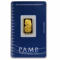 1 Gram 24k Pam Suisse Ingot on Card