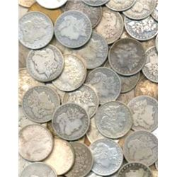 Lot of (100) Various Random Date Morgans