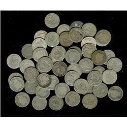 Lot of (50) Barber Dimes - (0% Silver