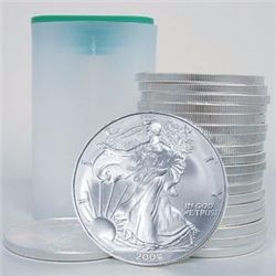(20) Silver Eagles 1 oz in Mint Tube