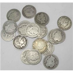 Lot of (20) Barber Quarters- Circulated