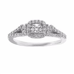 Diamond Halo Engagement Ring in 14k White Gold (1/3 ct. T.W.)