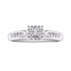 Round-Cut Certified Diamond Engagement Ring in 10k White Gold (1/5 ct. T.W.)